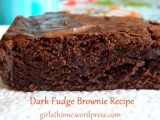 Dark Fudge Brownie Recipe