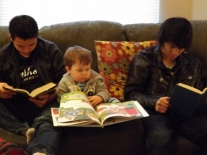 reading with my brothers